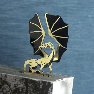 Small Right Angle Bookmarks - Beowulf Dragon