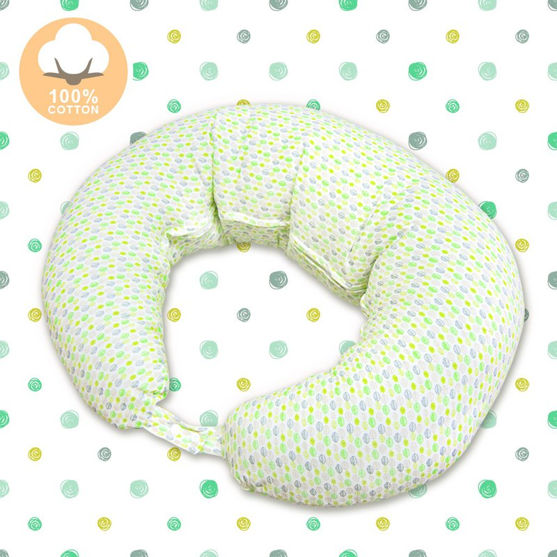 Moon Nursing Pillow - Green Leaf