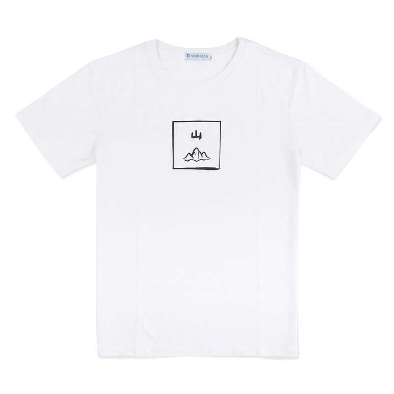 Dosquare - Cotton White T-shirt with Graphic