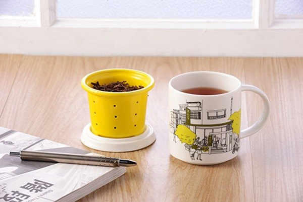 不二堂│T-MUG Yongkang tea is located in the mug (white porcelain yellow)