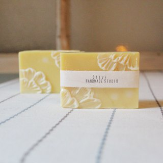 Yellow holiday | lace flower soap
