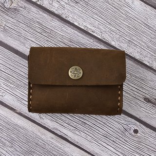U6.JP6 handmade leather goods - pure hand-made imported cowhide - simple coin purse (181112)