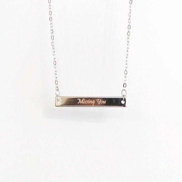 客製化英文人名 刻字項鍊  刻名頸鏈 頸鍊 項鏈 生日禮物 個人化