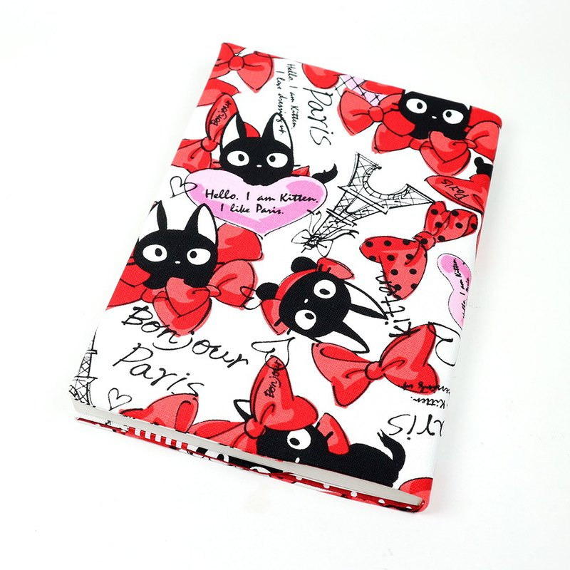A5 cloth book cover mother book cloth book cover book - bow cat (red)