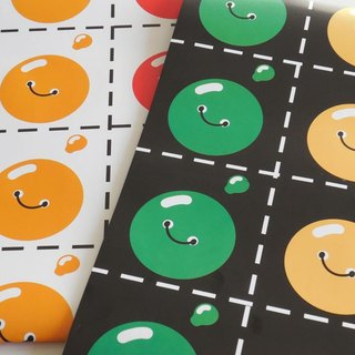 Buttons wrapping paper set.  Gift warpping. Funny wrapping