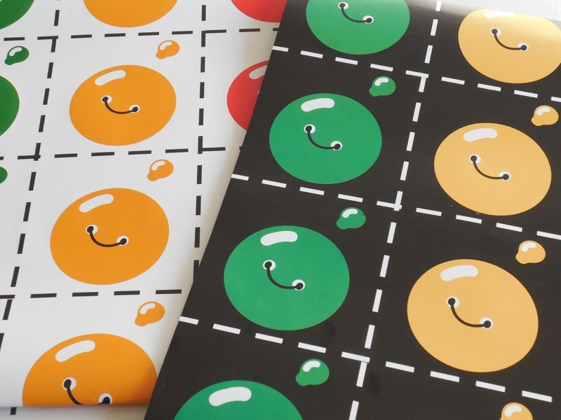 Buttons wrapping paper set.  Gift warpping. Funny wrapping. Christmas gift