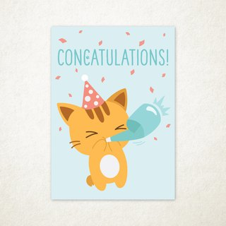 Concatulations Greeting Card