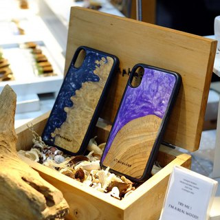 """DARK BLACK PEARL"" - BURL wooden case"
