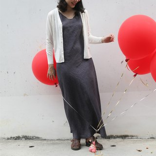 [Rolling cloth is a red balloon] Summer thin section of cotton and cotton blended knit cardigan two colors