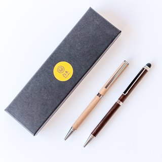 Touch ball pens [with Ray carving characters / with black pencil case / with pen] wood handwriting pen
