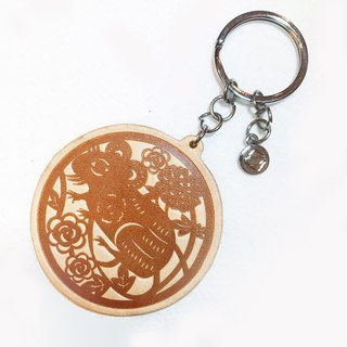 【La Fede】 Genuine leather zoster key ring (rat / cow / tiger / rabbit)