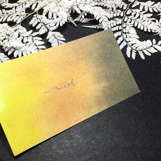 Yellow render gradient handwritten card - wish