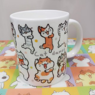 乜乜Mug - Ceramic Cup - A - Cat Dance