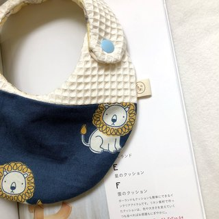Muffin Mambo cream lion Korean organic cotton handmade bibs saliva towel