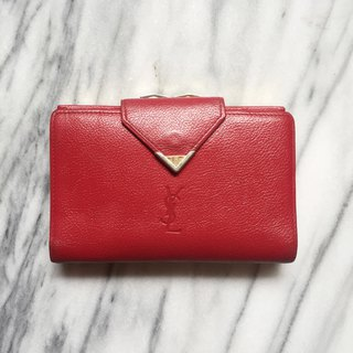 A ROOM MODEL - VINTAGE - YSL Red Wallet / BD-0946