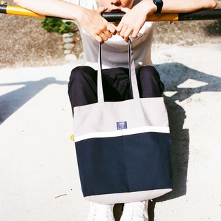 Shoulder Tote Bag _ Gray Dark Blue (in stock)