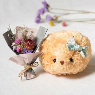 Soft little hedgehog with dry bouquet - GoldenRod