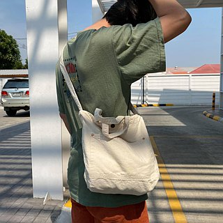 New off-white Little Canvas Tote / Weekend bag / Shopping bag