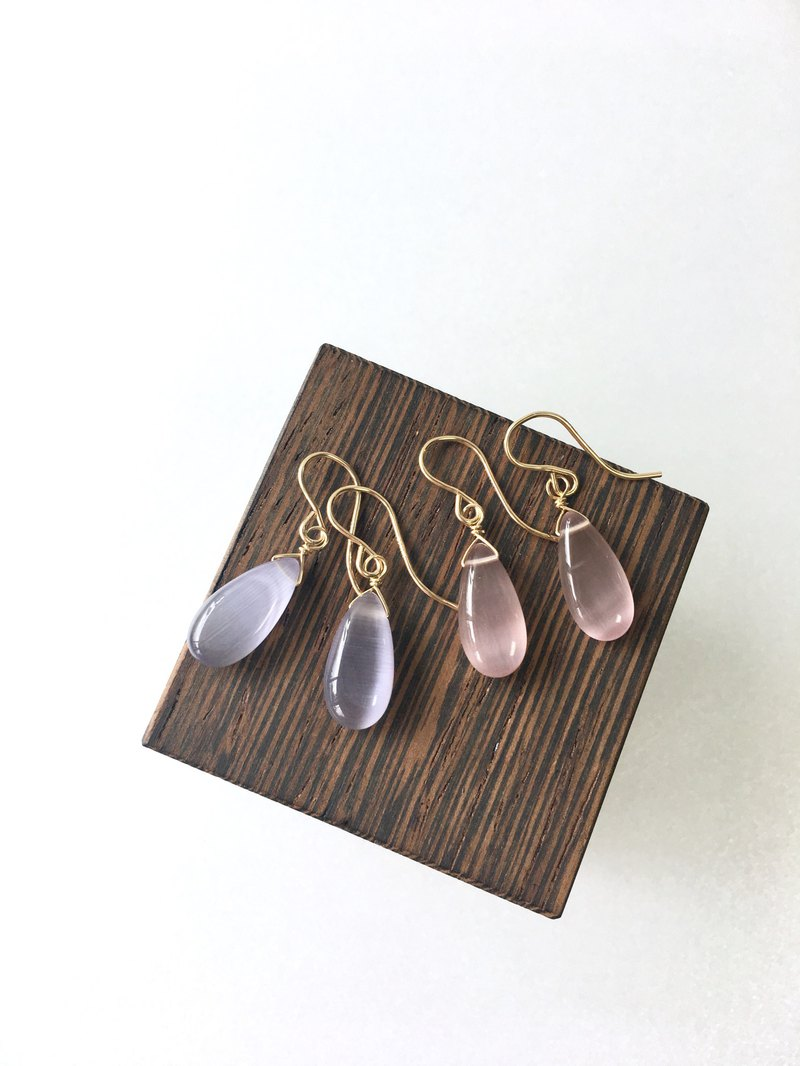 Lavender and 桜 cats eye quartz 14kgf SV925
