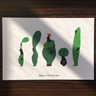 "Small Potatoes Postcards / Cactus / Noor thorn ""Nurhaci"""