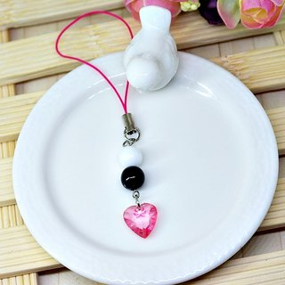 ├ cute little strap series ┤ - heart - # small gift # # can be changed into earphone plug #