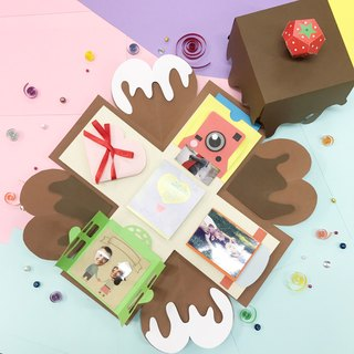 Customized – Chocolate Limited Edition Explosion box with 5 easy features