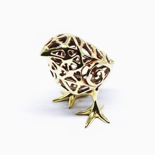 Golden chick <Brass>【Pio by Parakee】金色小雞家飾<黄銅>