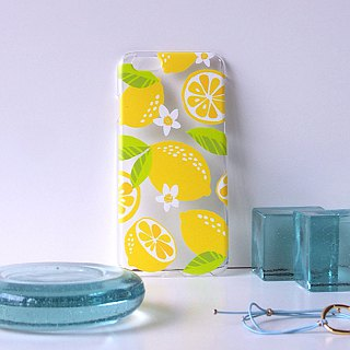 Clear android phone case - Citrus Limon -