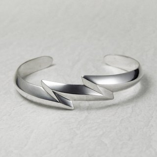Navajo Sandcast style 925 silver Double Thunder Bangle