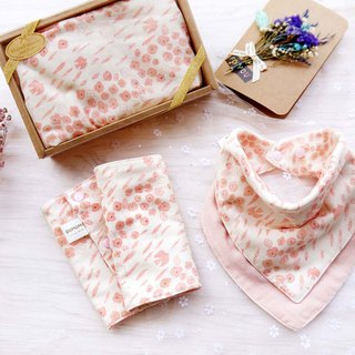 DOMOMO Japanese made swallow flower -6 layer yarn double-sided bib straps saliva towel
