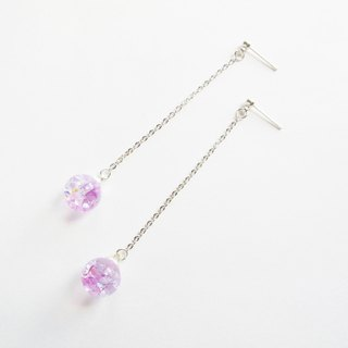 * Rosy Garden * Lavender purple crystal earrings