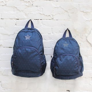 Stars~Mini water resistant backpack(12'' Laptop OK)-Dark blue_100368-30