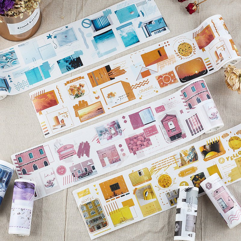 Letter of Lovers and Paper Tape <Color Photo Gallery> Ultra-wide can write multi-color color DIY hand account tools