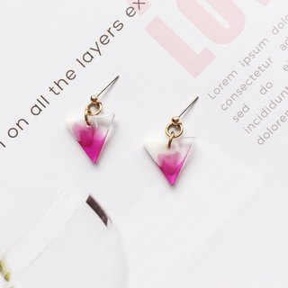 La Don - inverted triangle purple red ear / ear clip