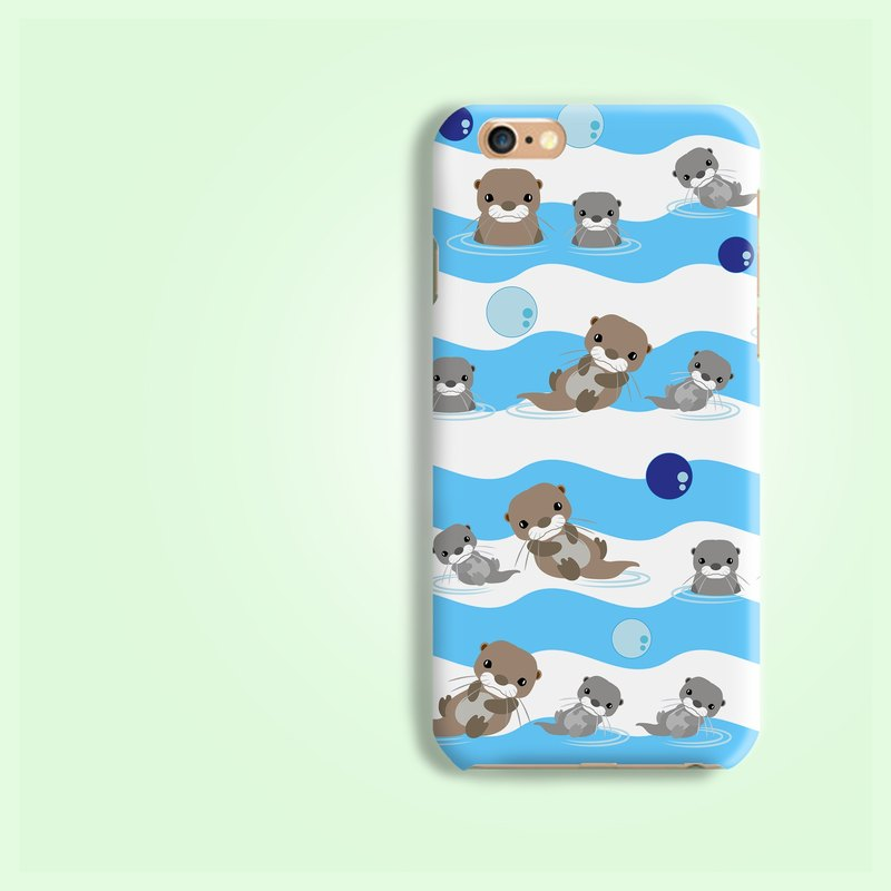 Otter wave Matt hard Phone Case iphone X 5 5S SE 6 6S 7 samsung A9 A7 C5 C7 C9