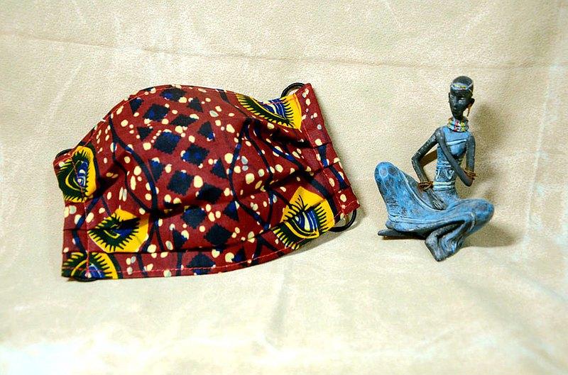 非洲花布口罩套-慾望之眼