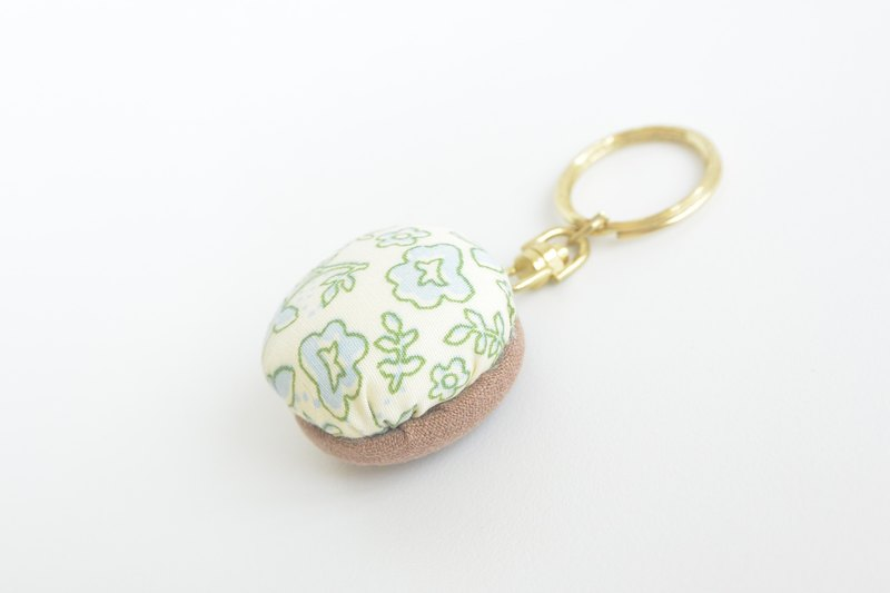 Soft key ring - Green Flower