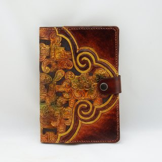 Handmade leather notebook book book book--cloud pattern dragon figure