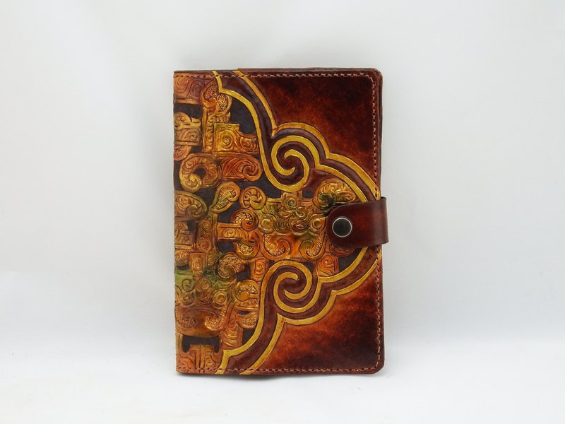Handmade leather notebook book book book--Ruyi Yunlong (plus gift bookmark)