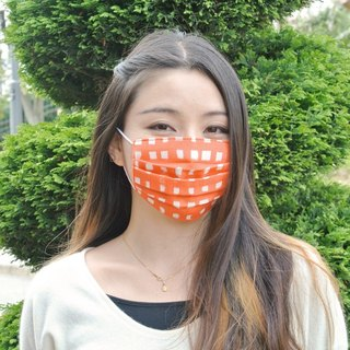 25%OFF | handmade mask Handwritten Gingham Red | Japanese comfortable gauze