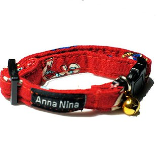 [AnnaNina] pet cat dog collar red sea anchor prime collar XS~M