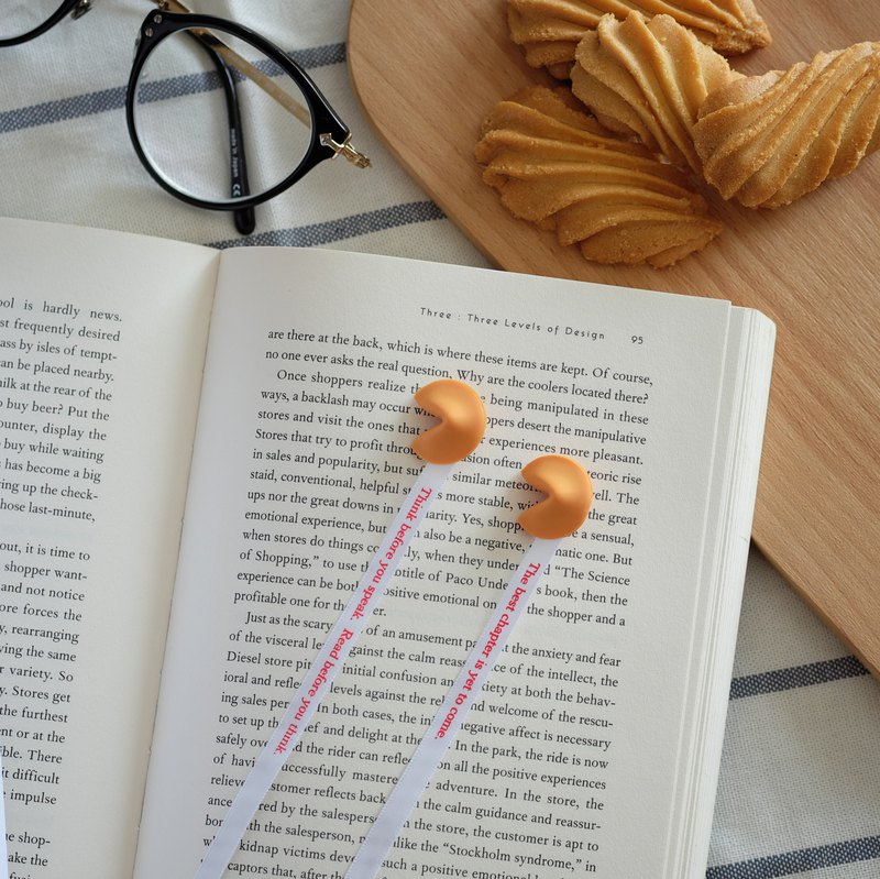 Fortune Cookie Bookmark - set of 2 │ reading / ribbon