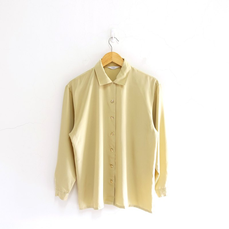 │Slowly│Mustard Yellow - Vintage Top │vintage.Retro.Literature