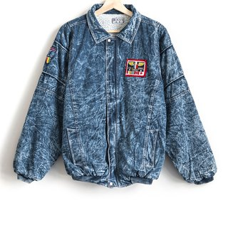 Vintage Denim Embroidered Cloth Snowflake Cotton Vintage Jacket