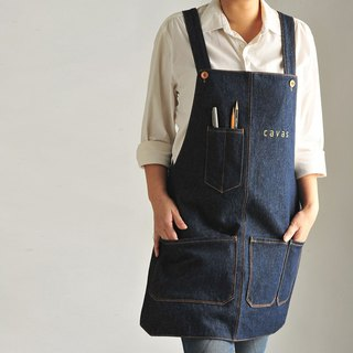 [New Listing] Washed Tannin Work Aprons - Dark Blue