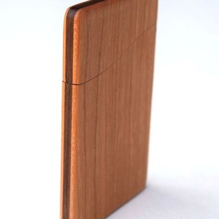 business card holder wooden,Slim name-card case, Cherry and Walnut