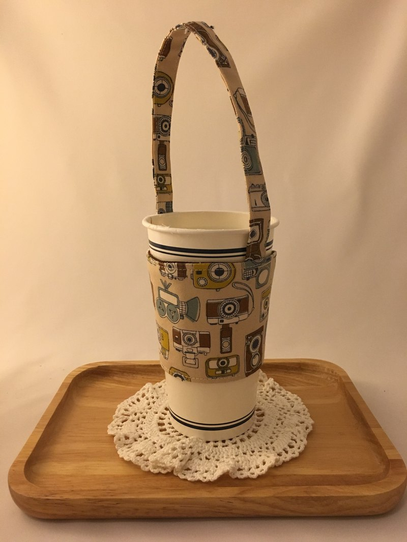 Retro Vintage Camera Takeaway Drink Cup Bag