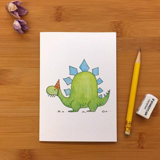【LITTLE DIFFERENCE】STEGOSAURUS HAT GREETING CARD