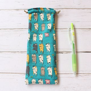 Tan cat pencil case / bundle pocket pencil case storage bag