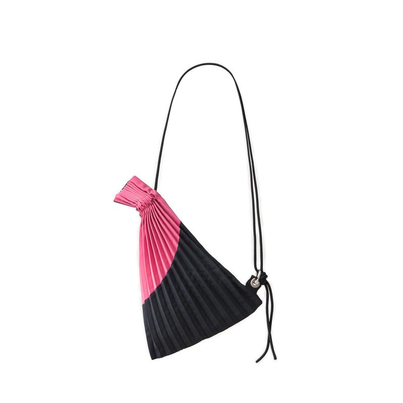 Errorism * Mini Pleated Colour Blocking Draw(s)tring Bag